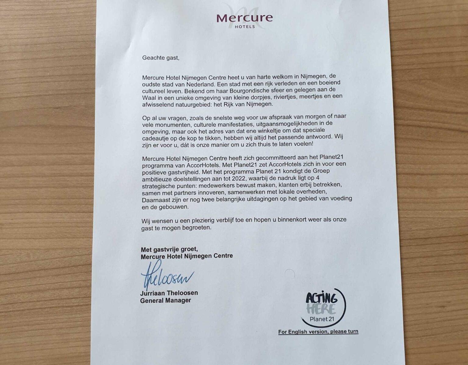 Mercure Nijmegen kamer