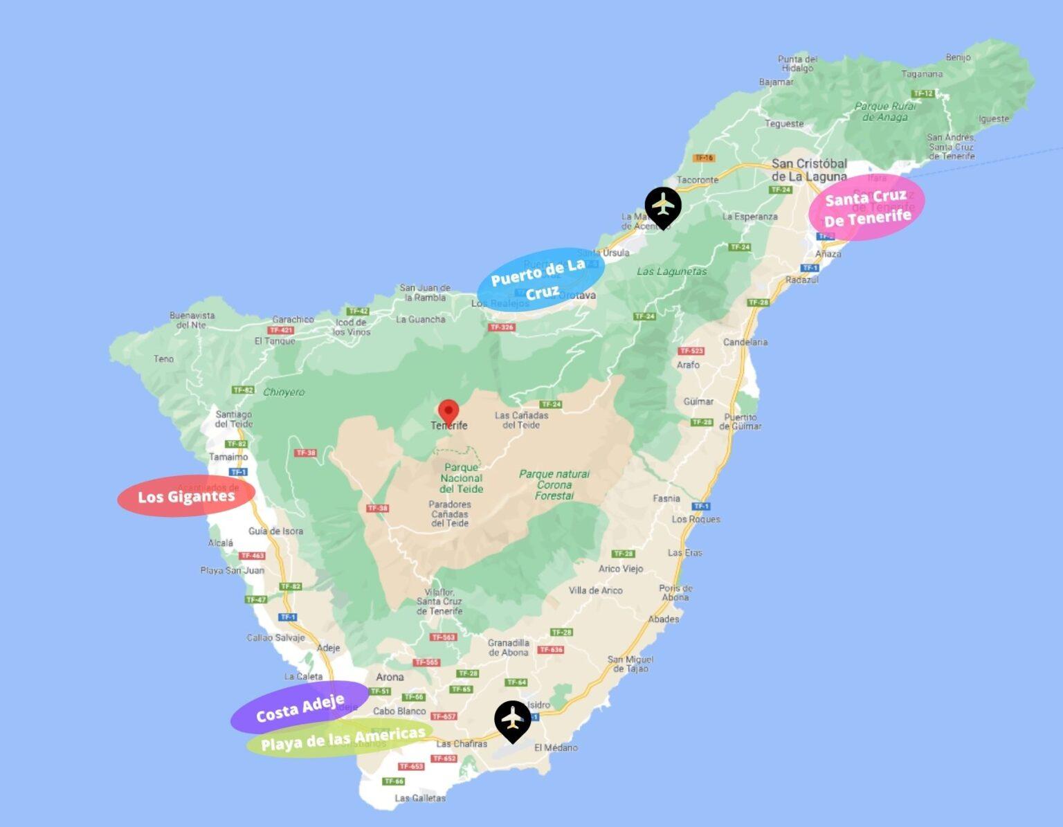Overnachten op Tenerife