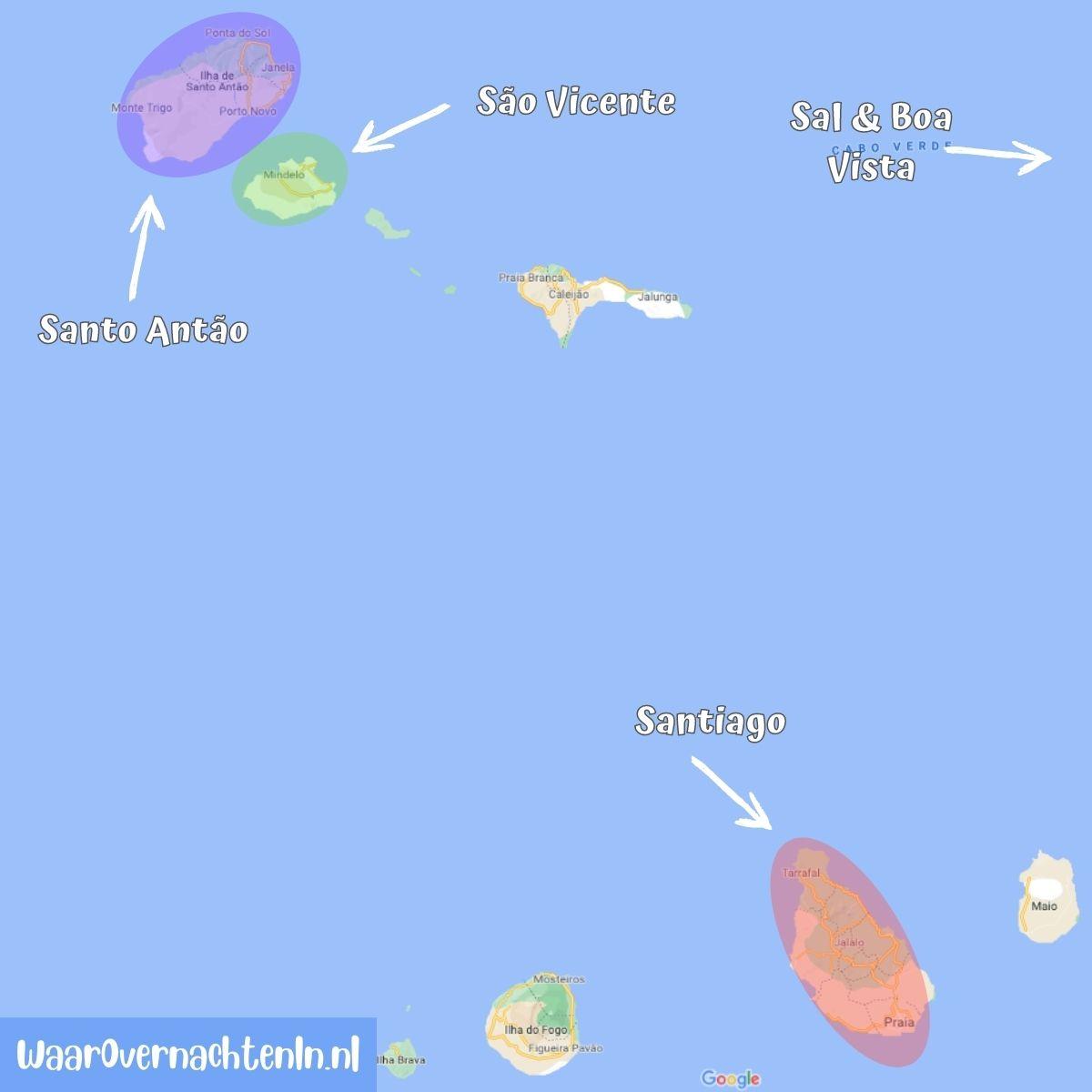 Leukste eilanden Kaapverdie